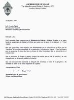 Monseñor Estévez, Carta de Referencia